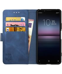 Rosso Element Sony Xperia 1 II Hoesje Book Cover Blauw