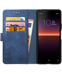 Rosso Element Sony Xperia 10 II Hoesje Book Cover Blauw