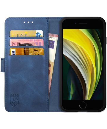Rosso Element Apple iPhone SE (2020) Hoesje Book Cover Blauw