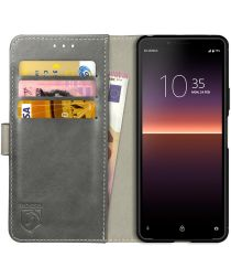 Rosso Element Sony Xperia 10 II Hoesje Book Cover Grijs