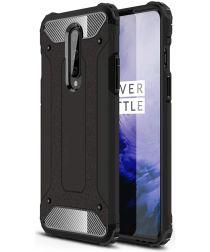 OnePlus 8 Hoesje Shock Proof Hybride Back Cover Zwart