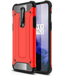 OnePlus 8 Hoesje Shock Proof Hybride Back Cover Rood