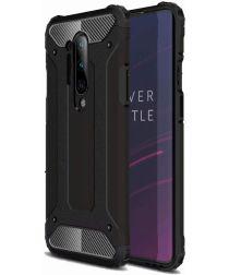 OnePlus 8 Pro Hoesje Shock Proof Hybride Back Cover Zwart
