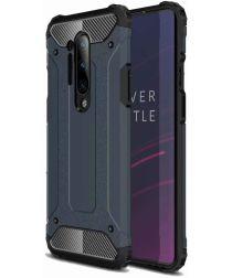 OnePlus 8 Pro Hoesje Shock Proof Hybride Back Cover Donker Blauw
