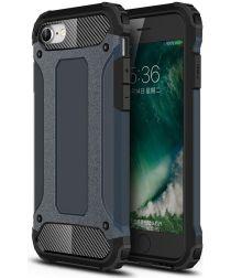 Apple iPhone SE (2020) Hoesje Hybride Back Cover Donker Blauw