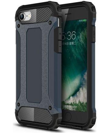 Apple iPhone SE (2020) Hoesje Hybride Back Cover Donker Blauw Hoesjes