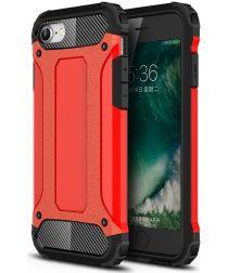 Apple iPhone SE (2020) Hoesje Hybride Back Cover Rood
