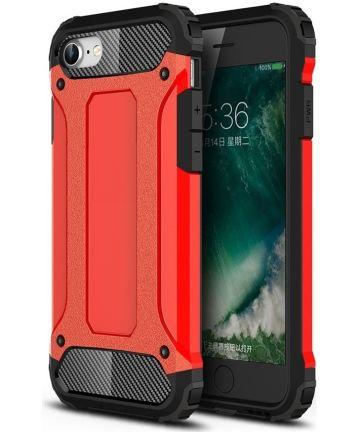 Apple iPhone SE (2020) Hoesje Hybride Back Cover Rood Hoesjes