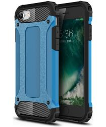 Apple iPhone SE (2020) Hoesje Hybride Back Cover Blauw