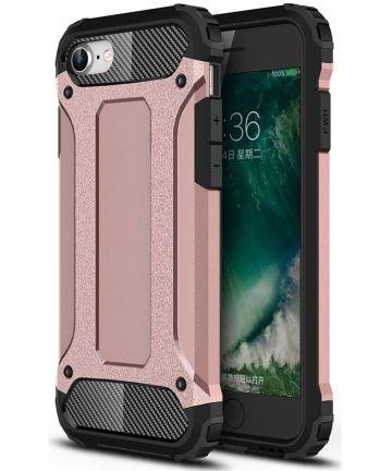 Apple iPhone SE (2020) Hoesje Hybride Back Cover Roze Goud