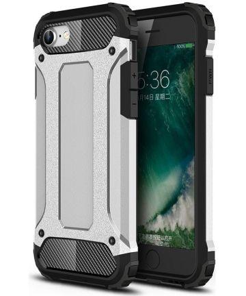 Apple iPhone SE (2020) Hoesje Hybride Back Cover Zilver