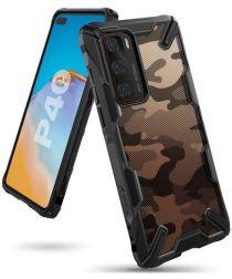 Ringke Fusion X Huawei P40 Hoesje met Camo Design Zwart