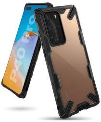 Ringke Fusion X Huawei P40 Pro Hoesje Zwart/Transparant