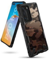 Ringke Fusion X Huawei P40 Pro Hoesje met Camo Design Zwart