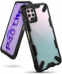 Ringke Fusion X Huawei P40 Lite Hoesje Transparant / Zwart