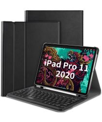 Lederen Toetsenbord Hoes iPad Pro 11 2018 / 2020 / Air Zwart