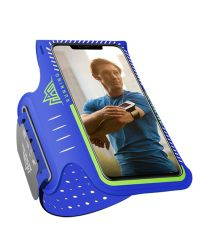 Aonijie Hardloop Armband en Sporthoesje voor Telefoons Klein Blauw