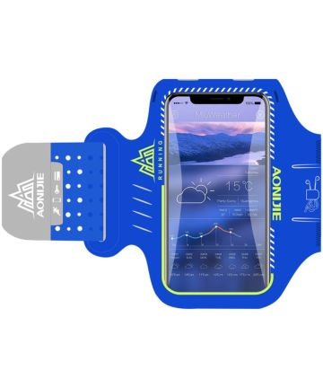 Luxe Universele Sport Armband 5.2 Inch Blauw Sporthoesjes