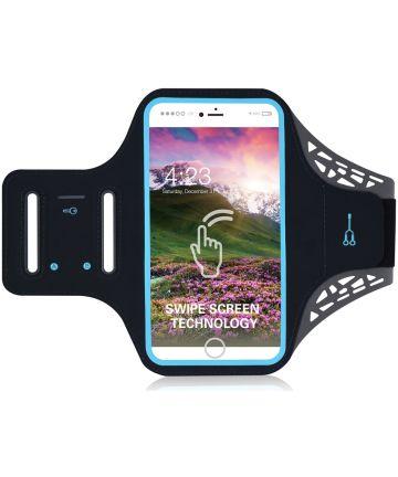 Sportarmband Universeel Hoesje voor het Hardlopen 5.5 inch Zwart Sporthoesjes