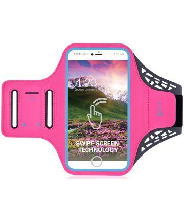 Sportarmband Universeel Hoesje voor het Hardlopen 5.5 inch Roze Sporthoesjes