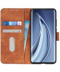Xiaomi Mi 10 (Pro) Hoesje Vintage Wallet Bruin