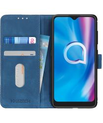 KHAZNEH Alcatel 1S 2020 / 3L 2020 Hoesje Retro Wallet Book Case Blauw