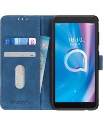 Alcatel 1B (2020) Hoesje Vintage Wallet Blauw