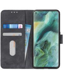 Oppo Find X2 Pro Hoesje Vintage Wallet Zwart