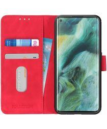 Oppo Find X2 Pro Hoesje Vintage Wallet Rood
