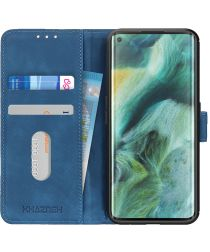 Oppo Find X2 Pro Hoesje Vintage Wallet Blauw