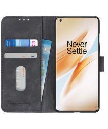 OnePlus 8 Hoesje Vintage Wallet Book Case Zwart