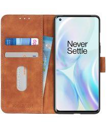 OnePlus 8 Pro Hoesje Vintage Wallet Book Case Bruin