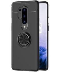 OnePlus 8 Pro Hoesje met Kickstand Ring Zwart