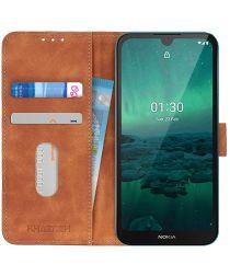 Nokia 1.3 Hoesje Vintage Wallet Book Case Bruin