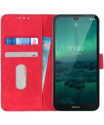 Nokia 1.3 Hoesje Vintage Wallet Book Case Rood