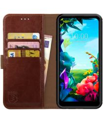 Rosso Element LG K40S Hoesje Book Cover Wallet Case Bruin