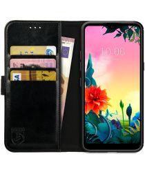 Rosso Element LG K50S Hoesje Book Cover Wallet Case Zwart