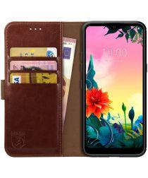 Rosso Element LG K50S Hoesje Book Cover Wallet Case Bruin