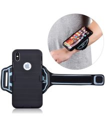 Apple iPhone XS Max Sportarmband Onderarm met Back Cover Smooth