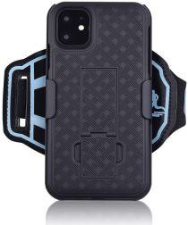 Apple iPhone 11 Pro Max Sportarmband Onderarm met Back Cover Woven