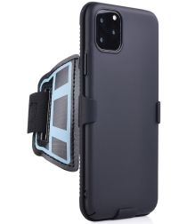 Apple iPhone 11 Pro Max Sportarmband Onderarm met Back Cover Smooth
