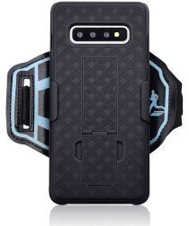 Samsung Galaxy S10 Sportarmband Onderarm met Back Cover Woven