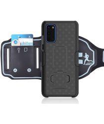 Samsung Galaxy S20 Sportarmband Bovenarm met Back Cover Woven