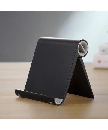 Universele Opvouwbare Smartphone standaard Zwart