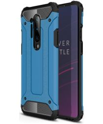 OnePlus 8 Pro Hoesje Shock Proof Hybride Back Cover Blauw