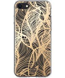 HappyCase Apple iPhone SE 2020 Hoesje Flexibel TPU Golden Leaves Print