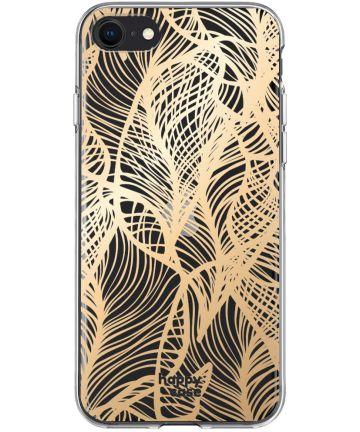 HappyCase Apple iPhone SE 2020 Hoesje Flexibel TPU Golden Leaves Print Hoesjes