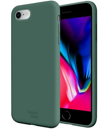 HappyCase iPhone SE 2020 Hoesje Siliconen Back Cover Groen Hoesjes