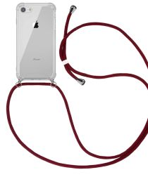 4smarts Apple iPhone SE (2020) / 8 / 7 Hoesje Hybride met Koord Rood