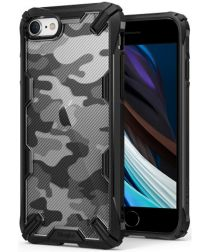 Ringke Fusion X Apple iPhone SE (2020) Hoesje Camo Design Zwart